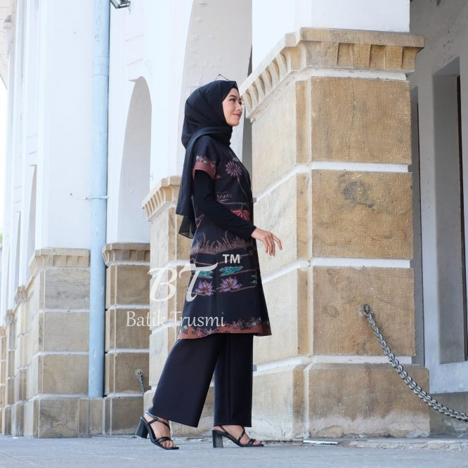 BATIK TRUSMI DRESS BATIK WANITA TULIS D ART (1)