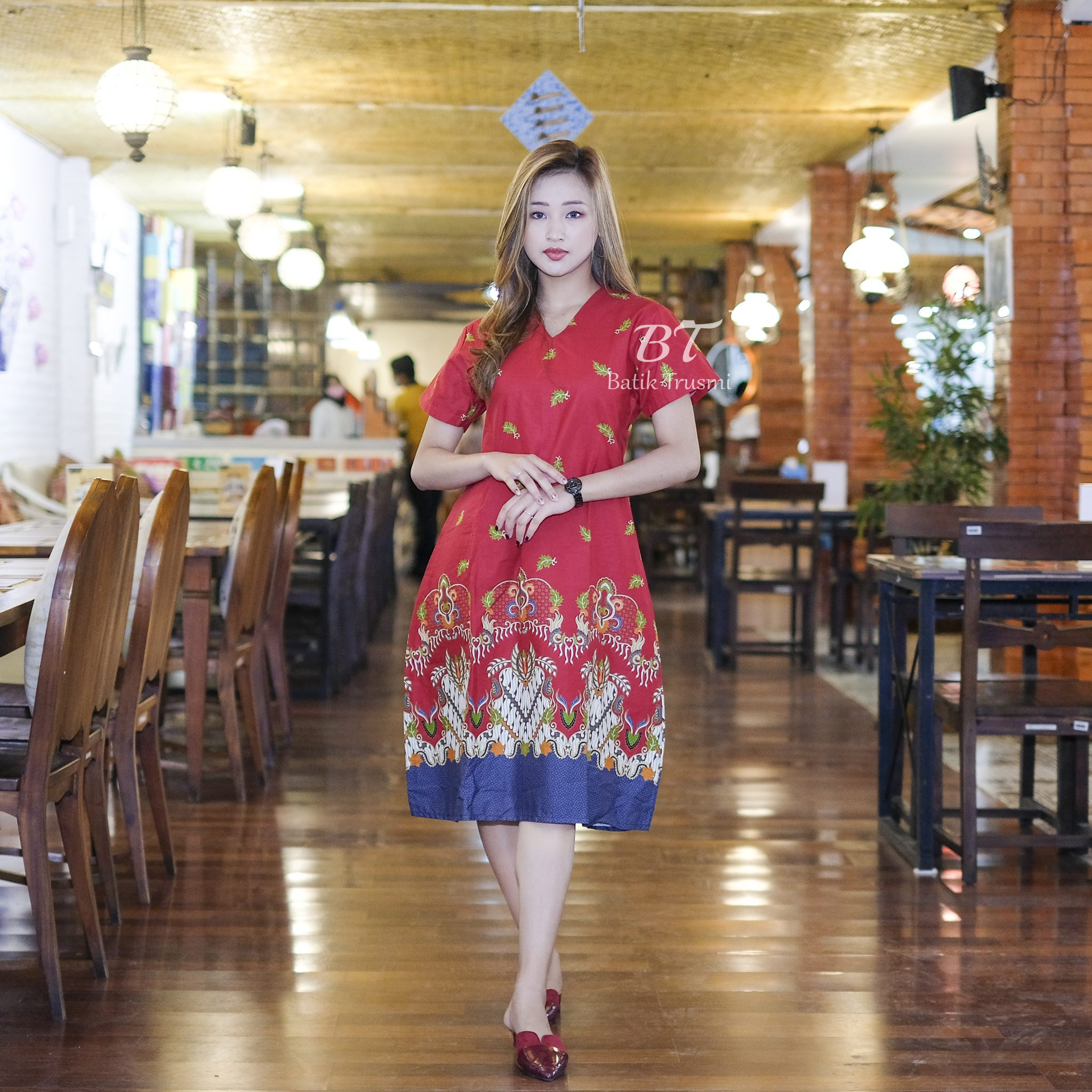 BATIK TRUSMI - DRESS SANGHAI IMLEK EDITION